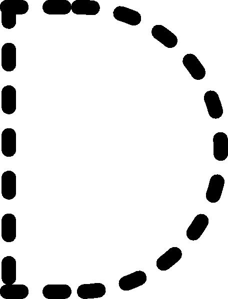Alphabet Tracing Letter D clip art Free Vector - ClipArt Best ...