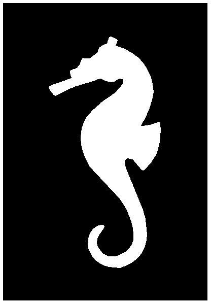 Seahorse Stencil Printable