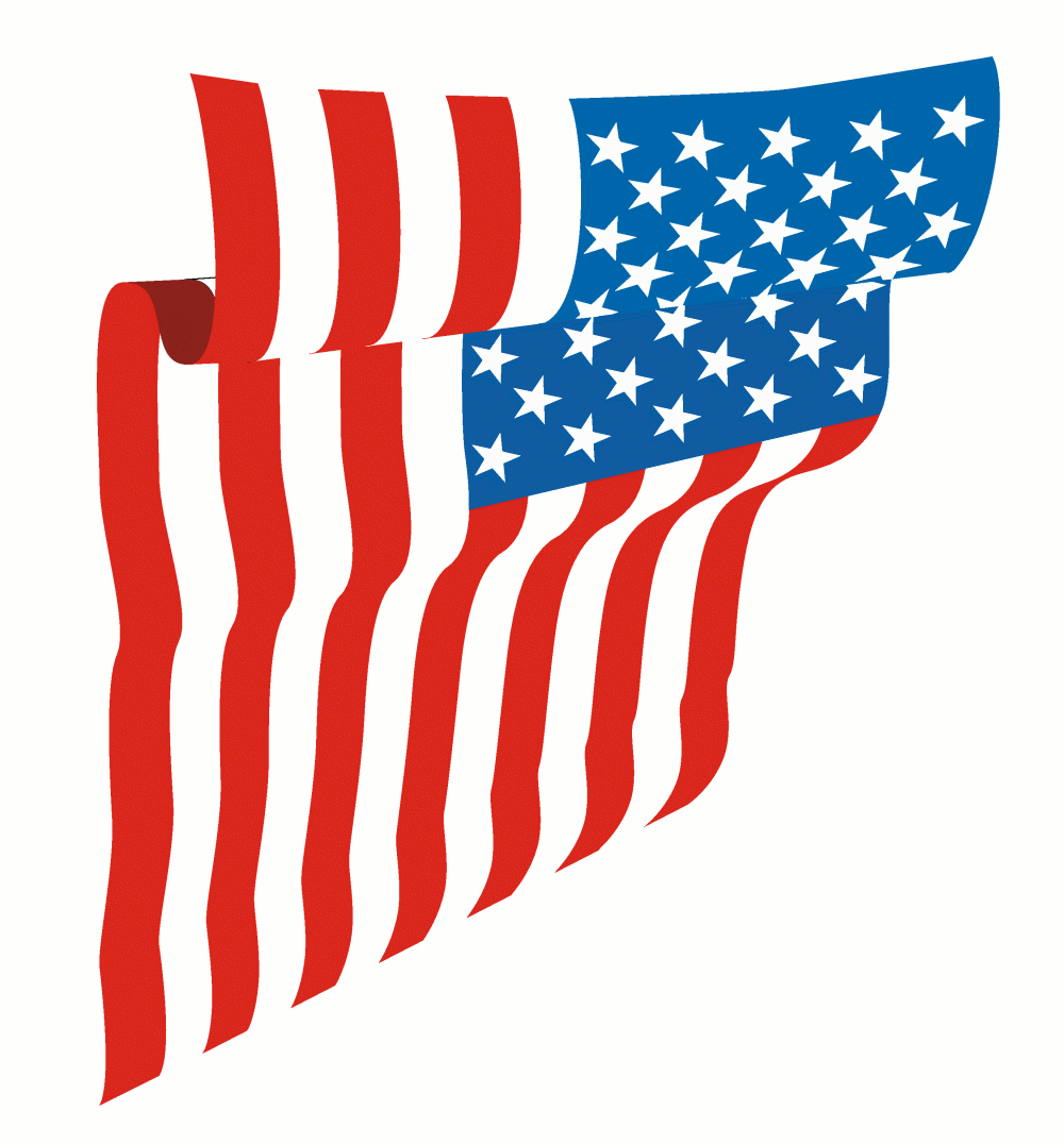 free animated clip art american flag - photo #20
