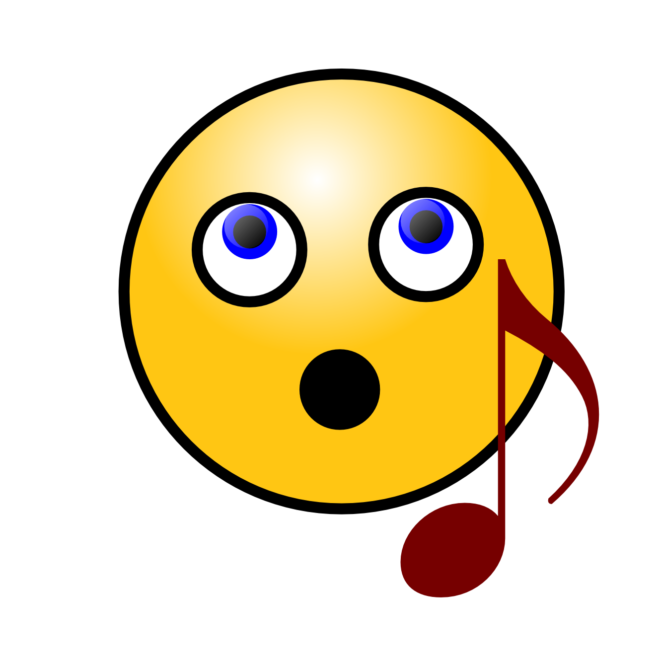 Singing Smiley Face SVG - ClipArt Best - ClipArt Best