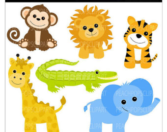 Baby Jungle Animals Clipart - ClipArt Best