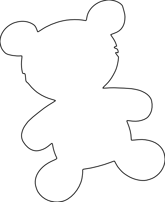 Line Drawing Teddy Bear : Bear line drawing clipart best