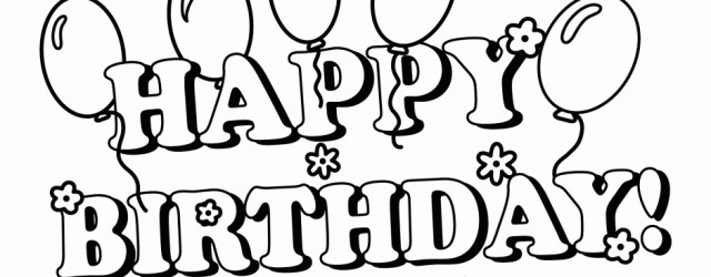 Happy Birthday Coloring Pages - ClipArt Best