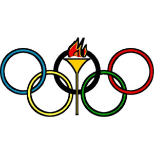 Olympic Rings with Torch - Polyvore