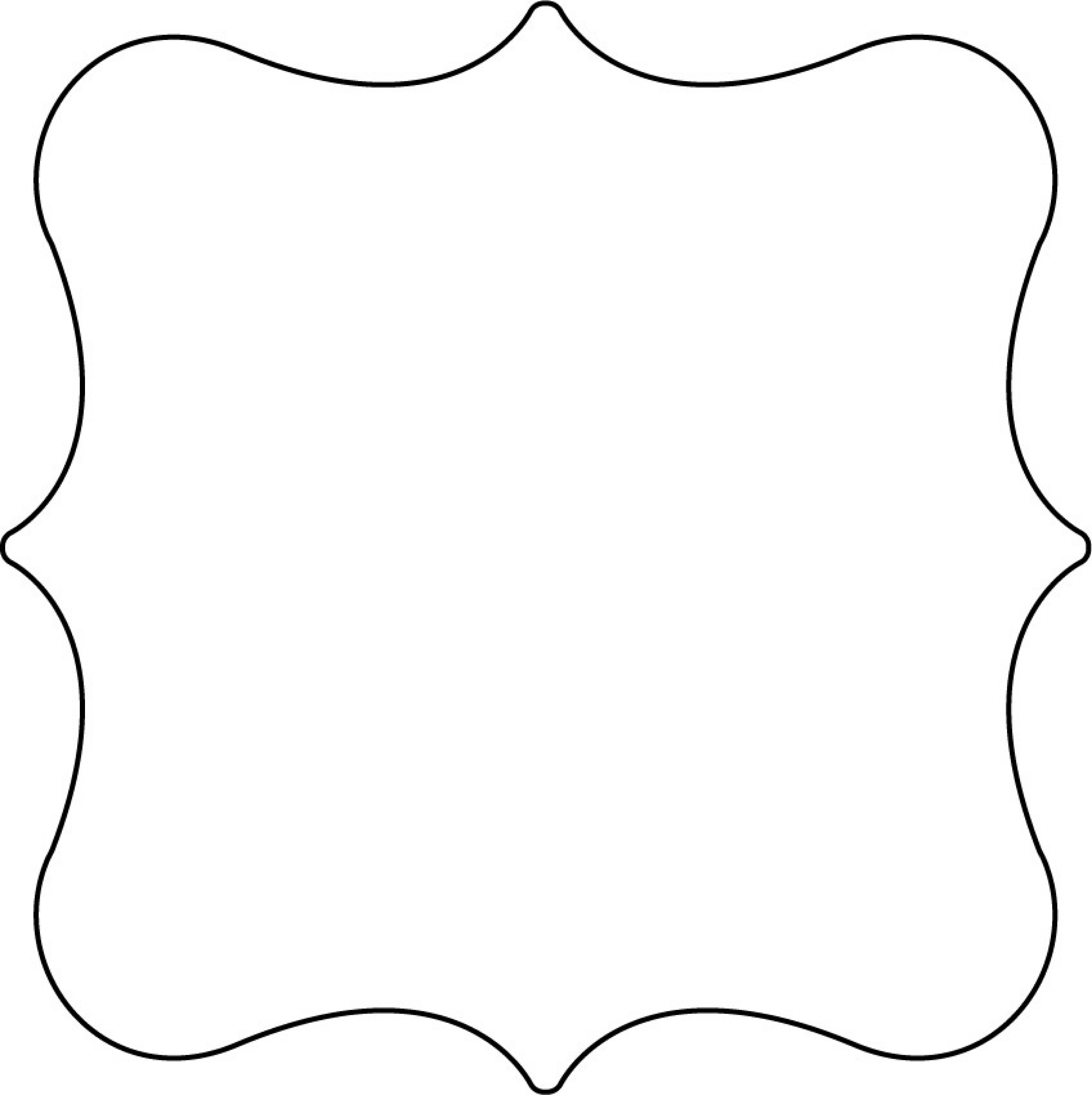 Shape template free printable clipart best for Black and white shapes