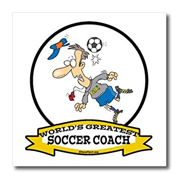 Amazon.com: 3dRose ht_103567_2 Funny Worlds Greatest Soccer Coach ...