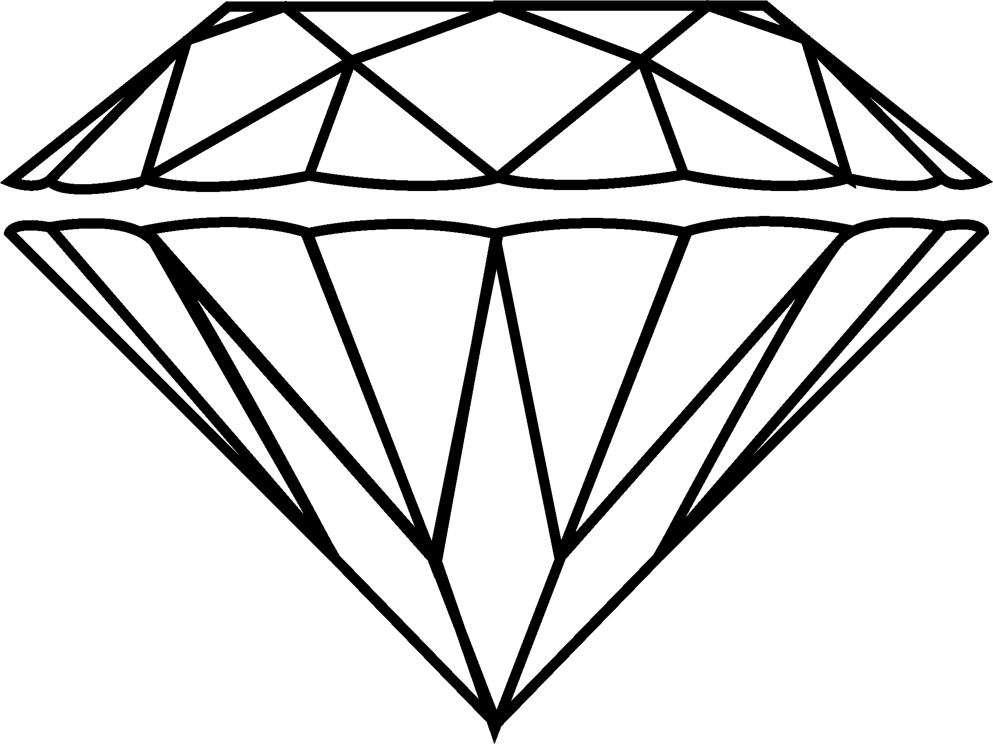 how to draw a perfect diamond