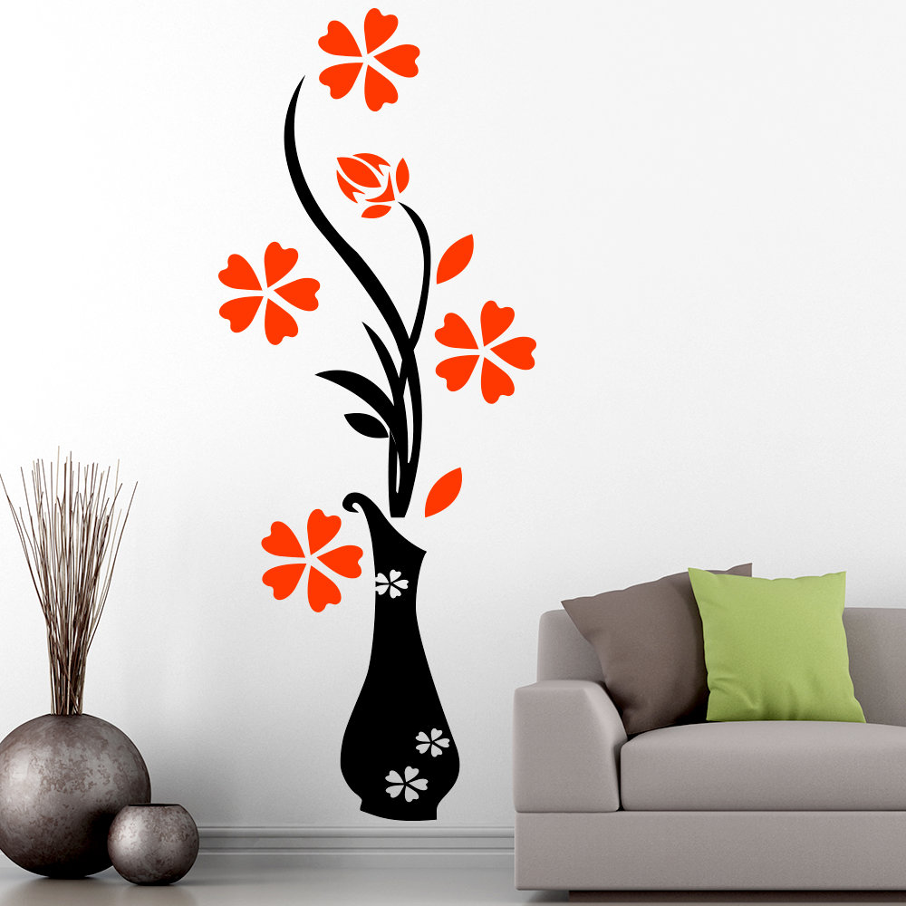 Wall Decor Stickers Penang : Floral wall sticker clipart best