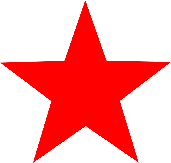Red star clip art