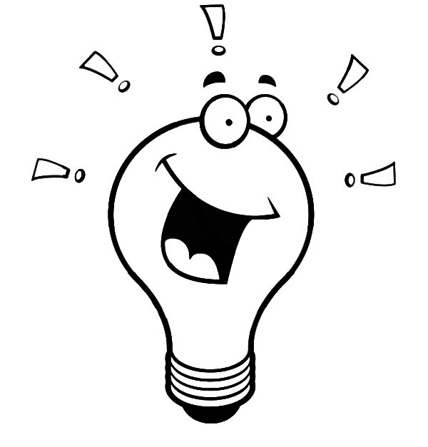 Light Bulb Laughing Coloring Pages: Light Bulb Laughing Coloring ...