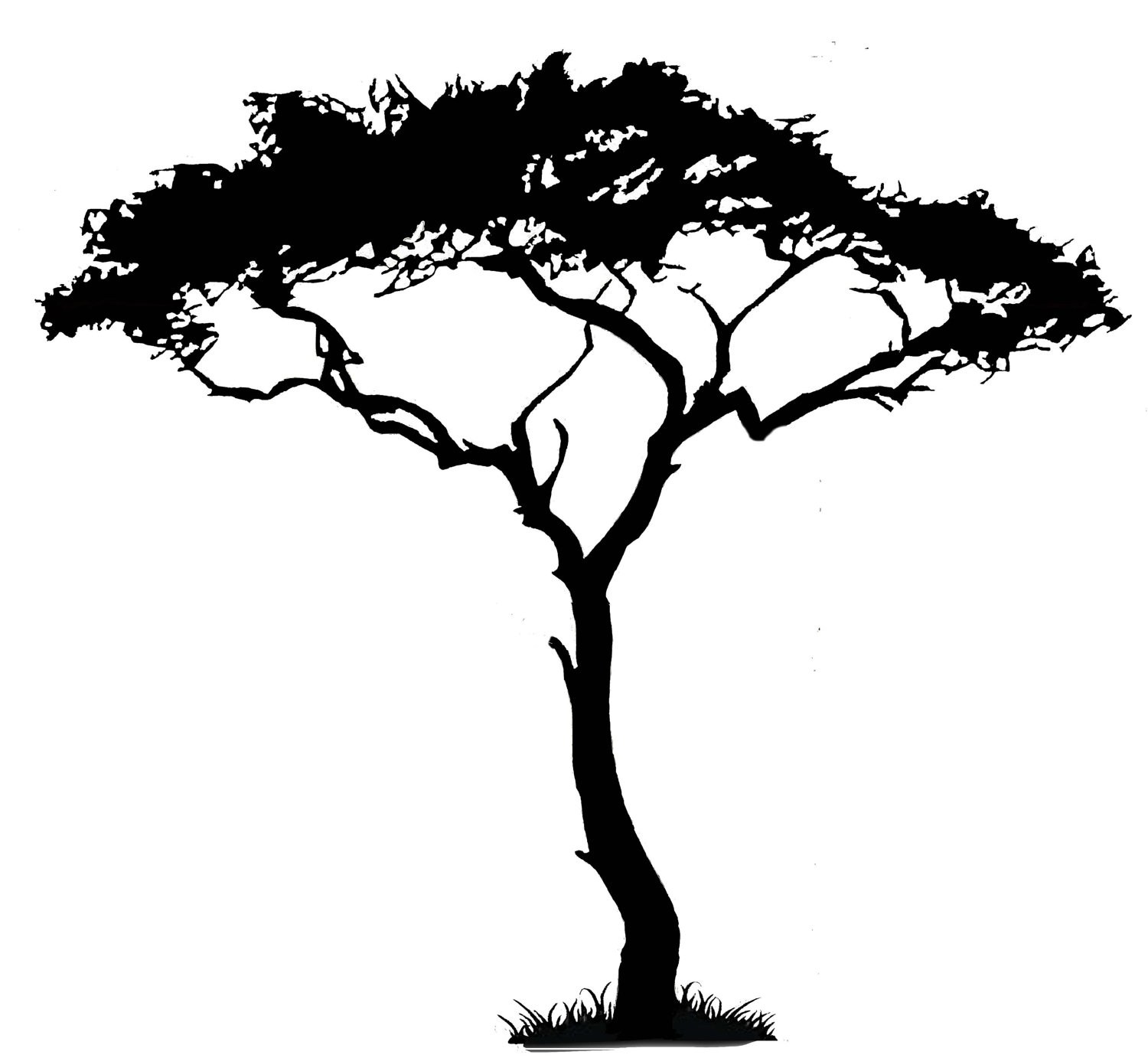 30 African Tree Silhouettes Free Cliparts That You Can Download To