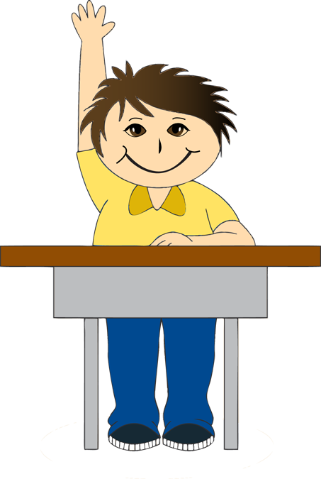 School Desk Clip Art Boy at school desk