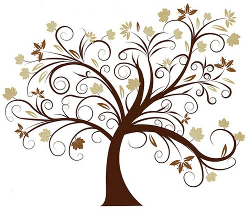 Wedding Tree Vector: Wedding Tree Template
