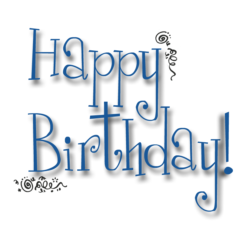 Happy Birthday Typography Png ~ Happy birthday png text clipart best
