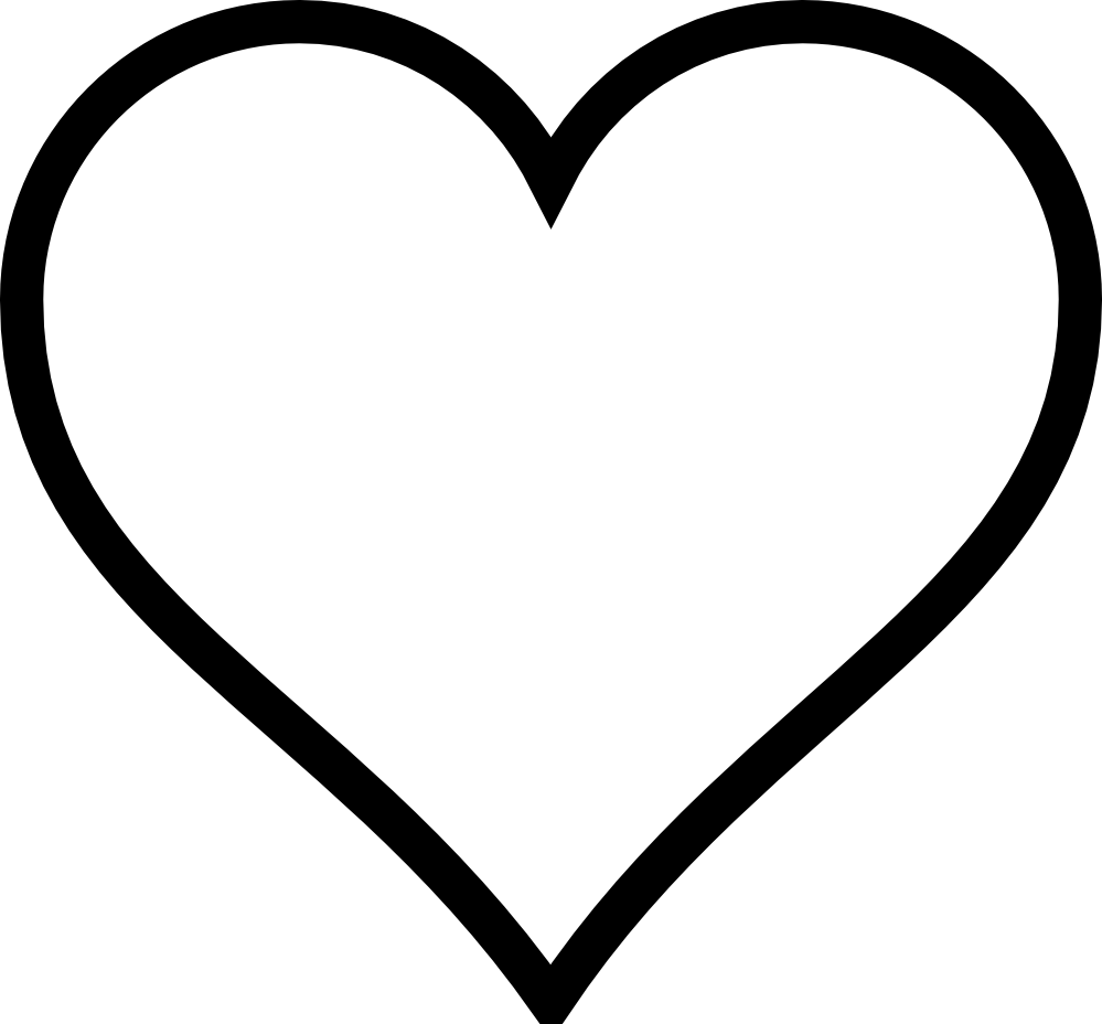 Heart Black And White - ClipArt Best