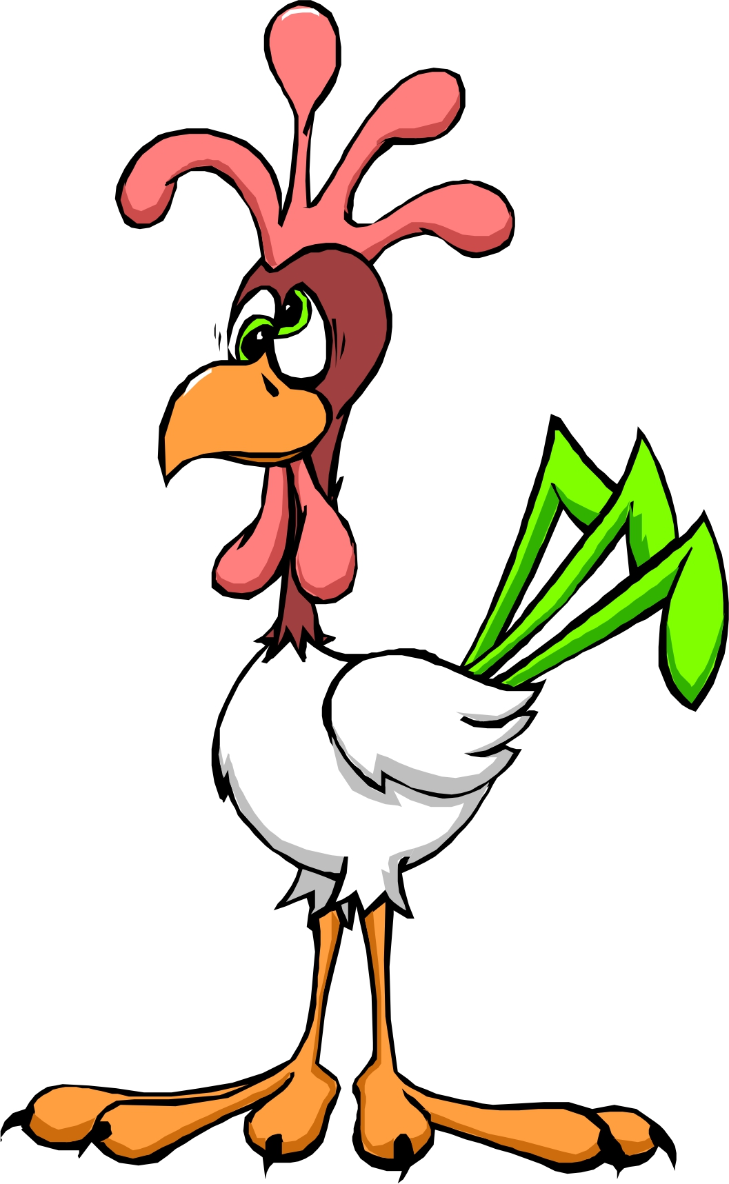 cartoon chicken clip art free - photo #21