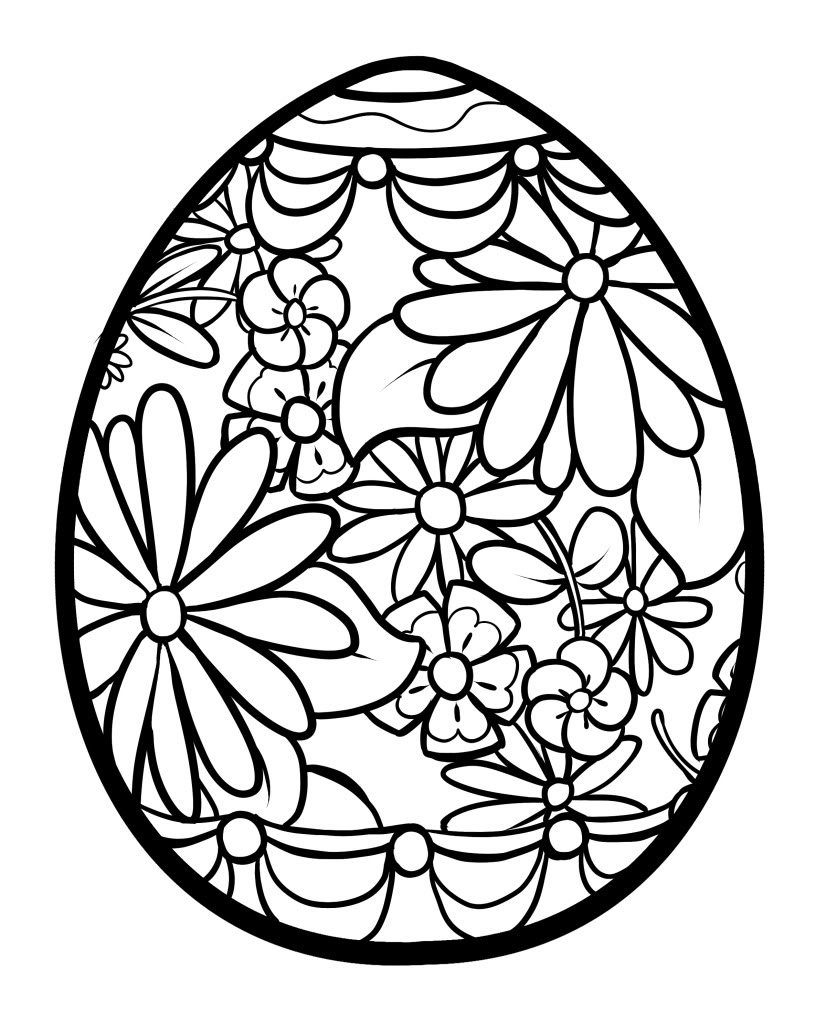 Easy Flower Design Coloring Page ClipArt Best