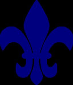 Royal Blue Fleur De Lis clip art - vector clip art online, royalty ...