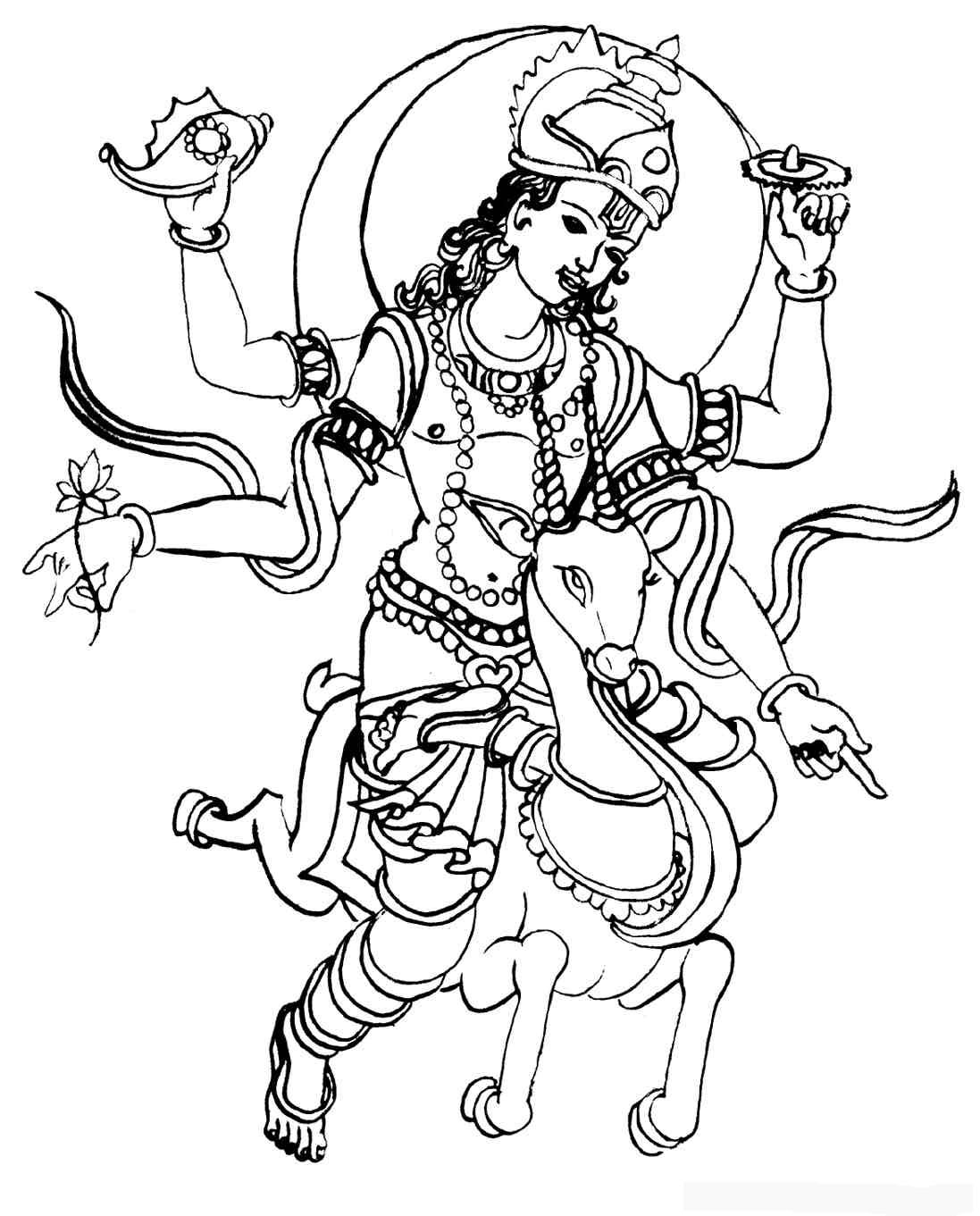 hindu gods printable coloring pages - photo#5