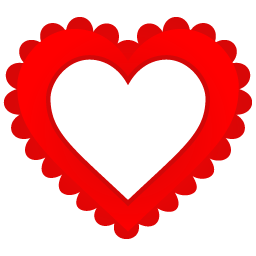 Heart Border Icon | Free Vector Valentine Heart Iconset | DesignBolts