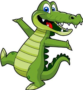 Cartoon Alligator Clip Art - Cute Alligator Mascot ...