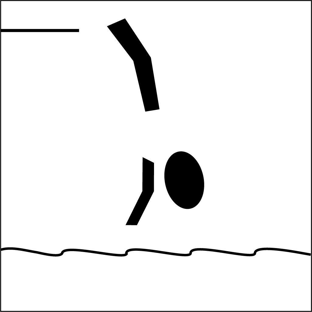 Olympic Diving Pictogram Balck And White - ClipArt Best