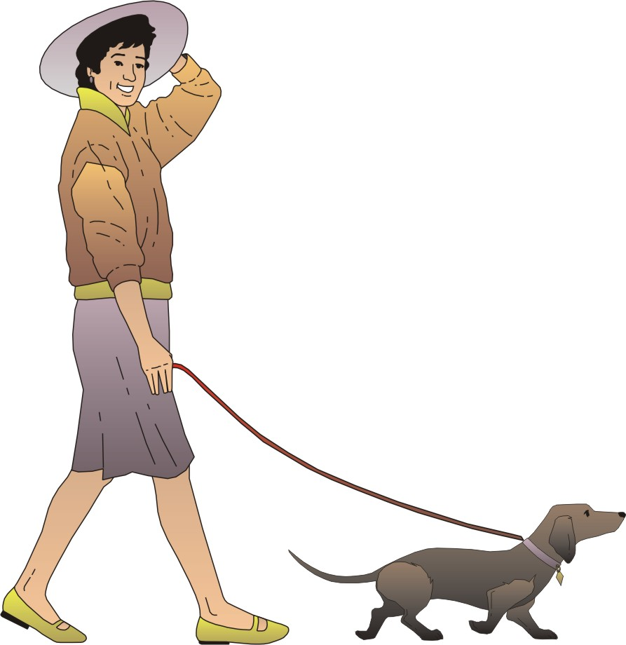 Walking dog animation