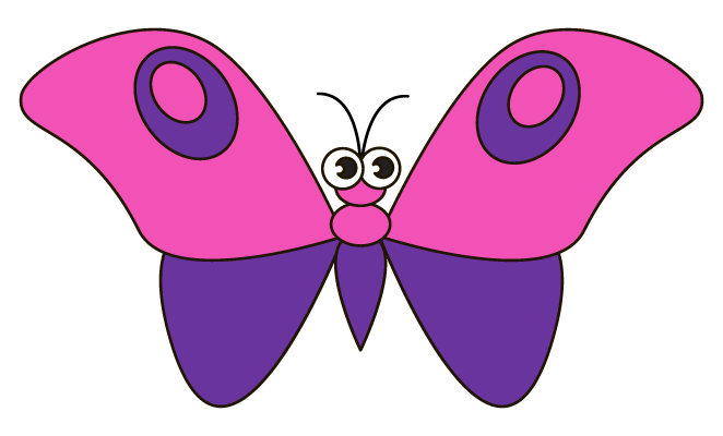 how to draw butterfly pictures