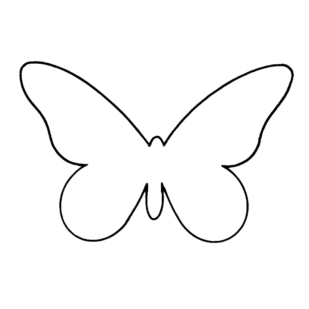 Butterfly outline printable clipart best for Printable butterfly template