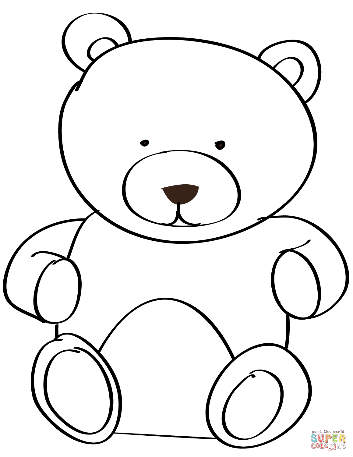 bear coloring pages sparklebox free - photo#18