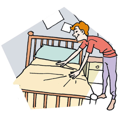 Make Bed Clip Art   Tumundografico. Making The Bed Clipart Black And White   ClipArt Best