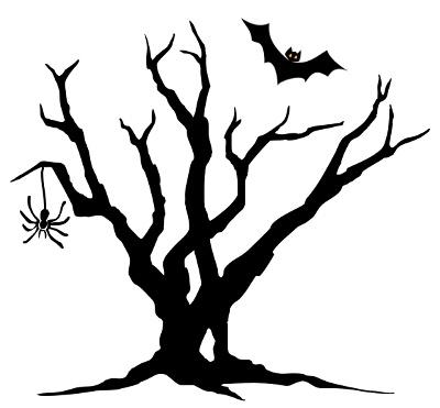 Halloween tree art