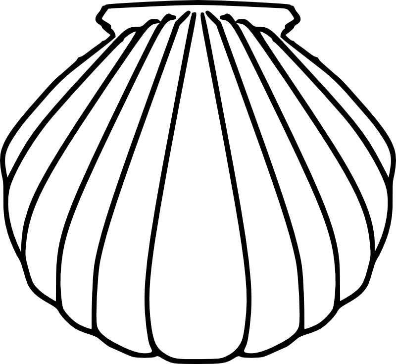 baptism shell coloring pages - photo#7