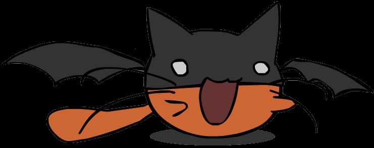 Bat Cat Images Clipart Best