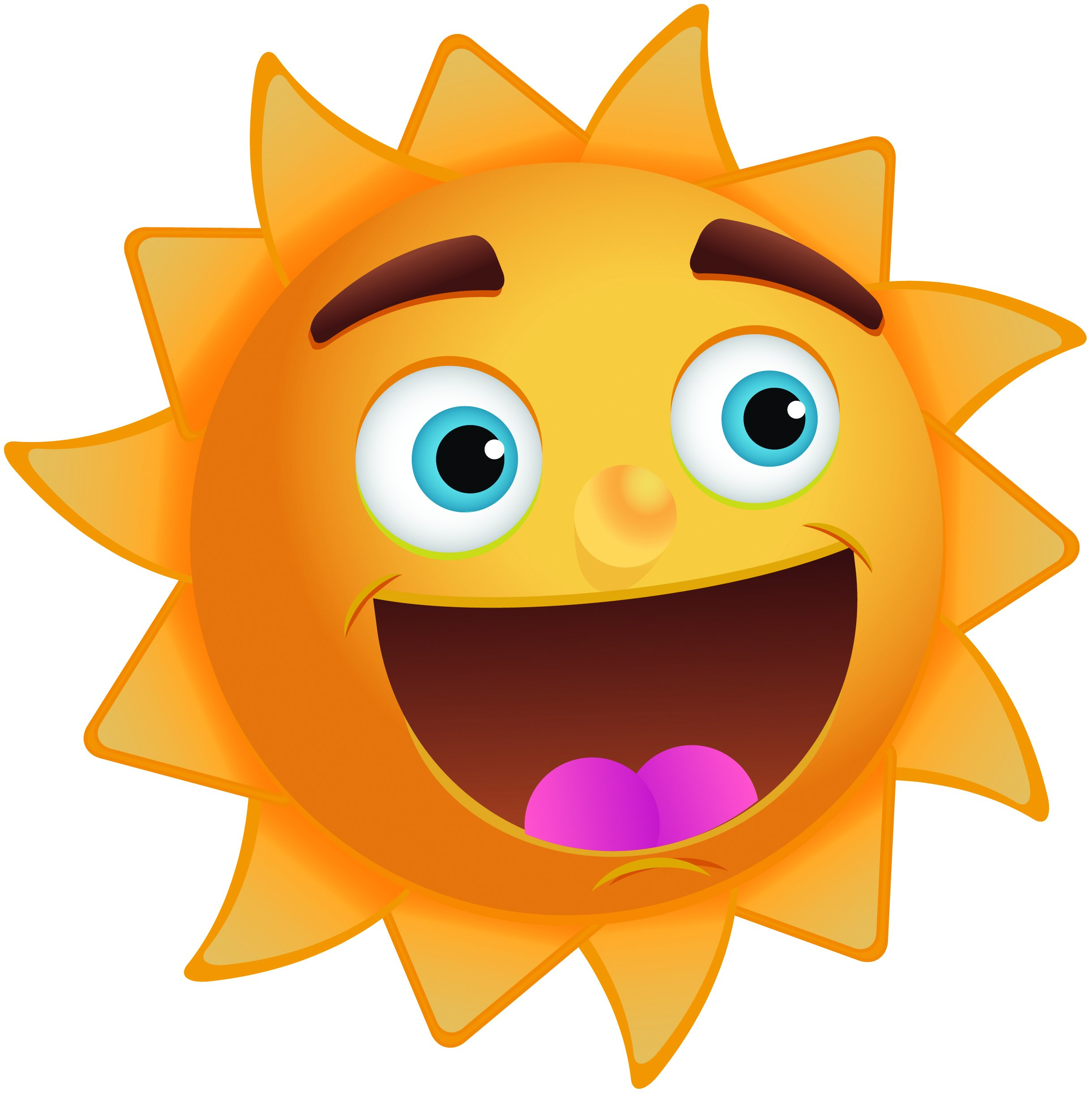Happy Sun Clip Art Image With Great Big Smile Kootation ...