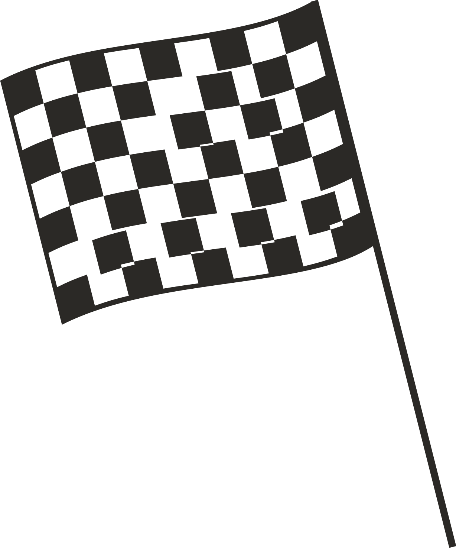 Checkered Car Racing Flag Cake