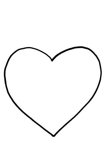 clip art heart template - photo #47