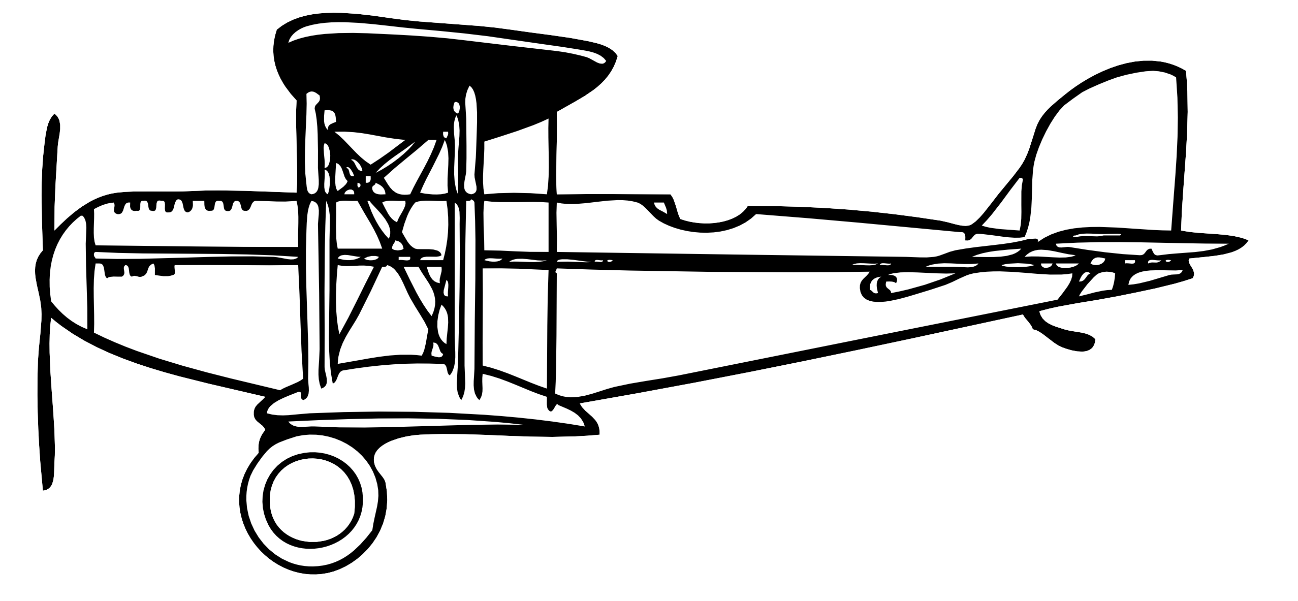 Biplane Black White Line Art Coloring Book Colouring Letters