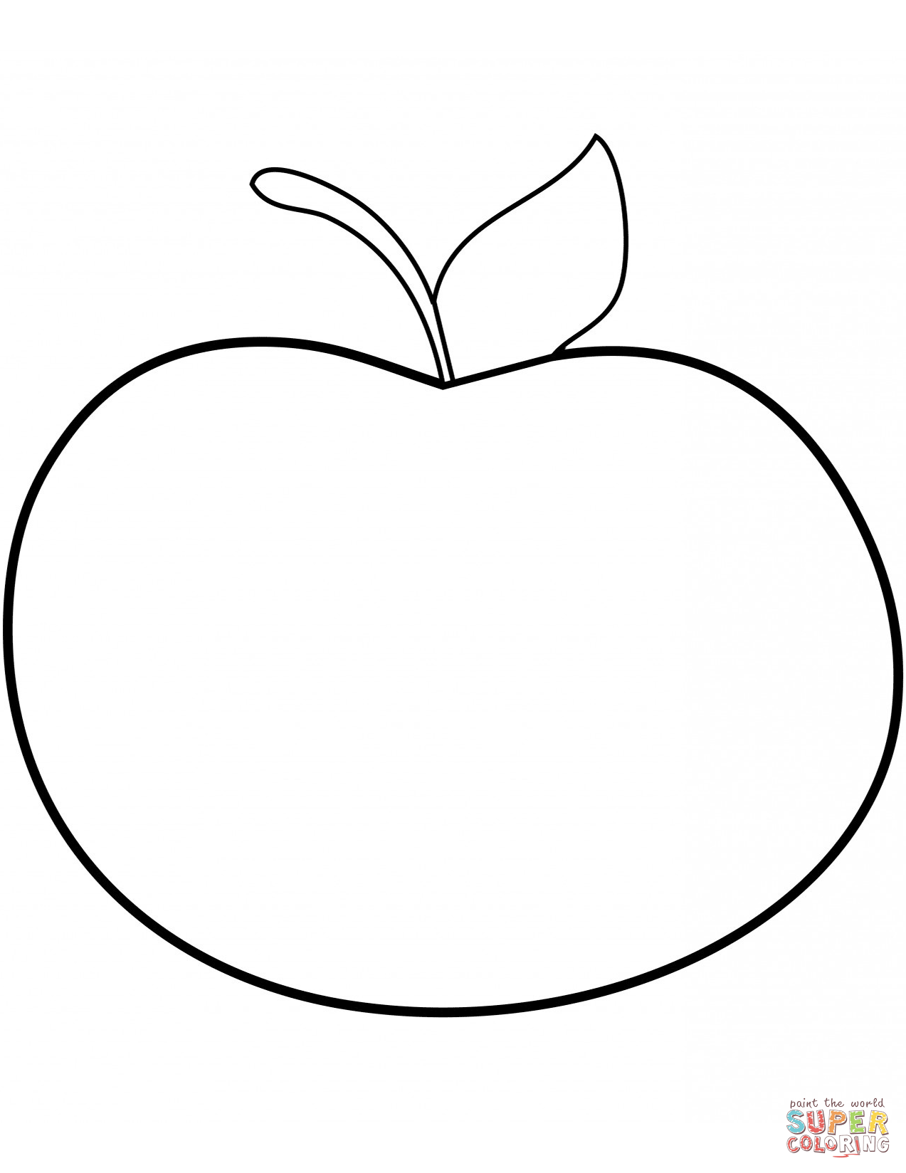 Simple Apple Pie Drawing Sketch Coloring Page