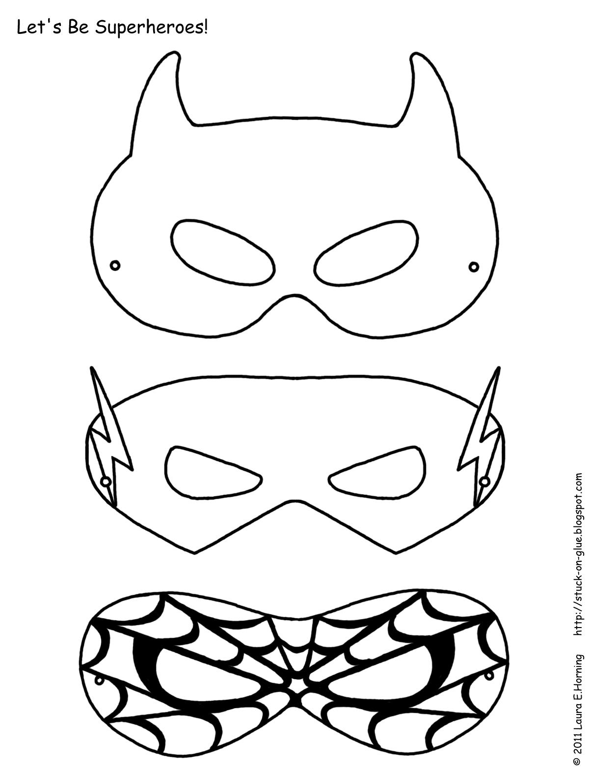 Как сделать маску супергероев своими руками