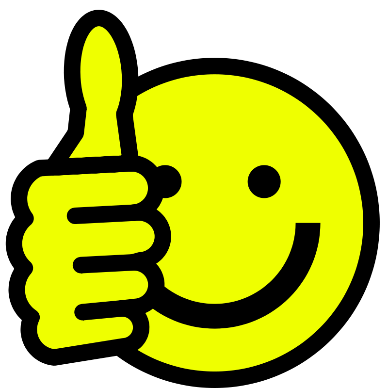 Smiley Face Thumbs Up Thank You - Free Clipart Images