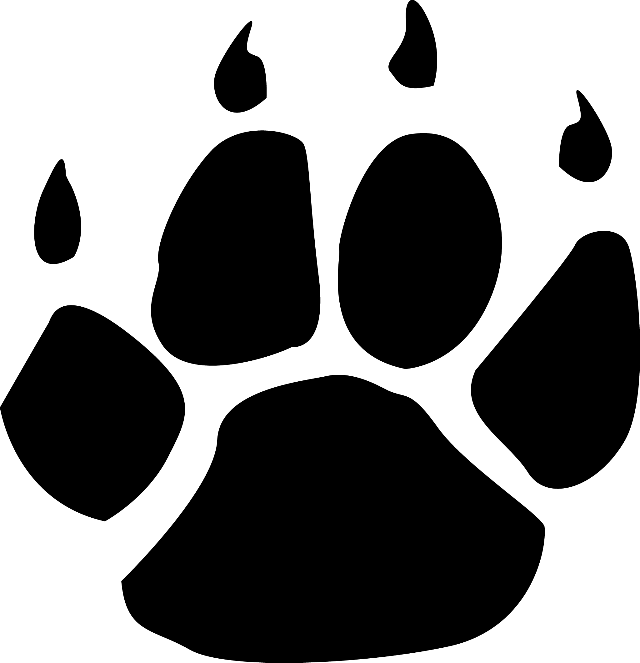 wildcat paw print clipart best Mountain Lion Paw Print Clip Art lion paw print clip art free
