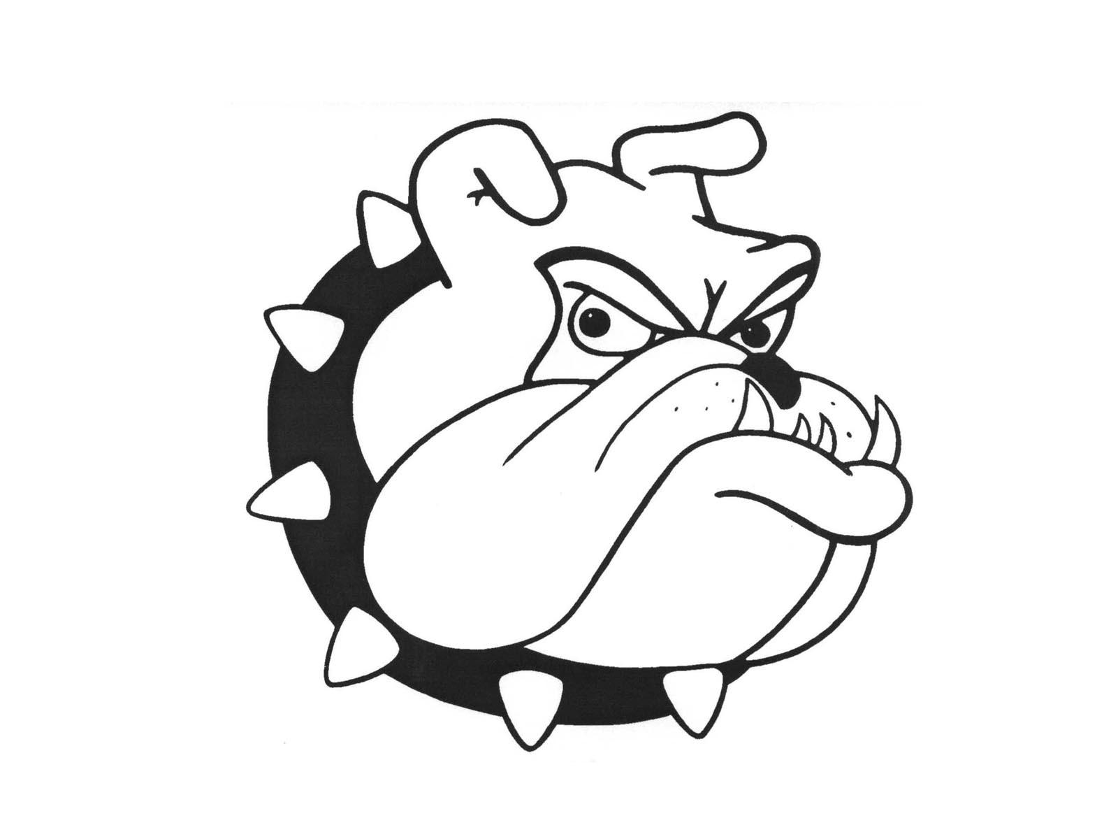 Bulldog Cartoon Face Vector Illustration By Chromaco ...