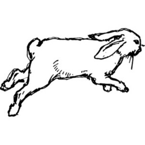 Clip Art Black And White Rabbit - ClipArt Best