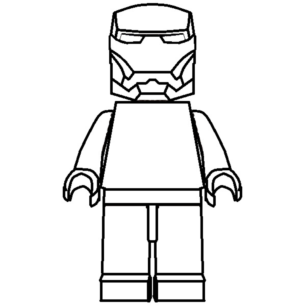 Lego figure printable clipart best for Lego figure coloring page