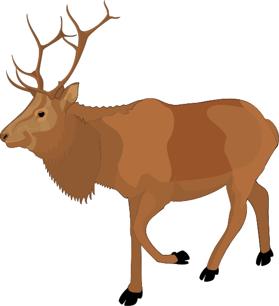 Brown Moose Clip art - Animal - Download vector clip art online