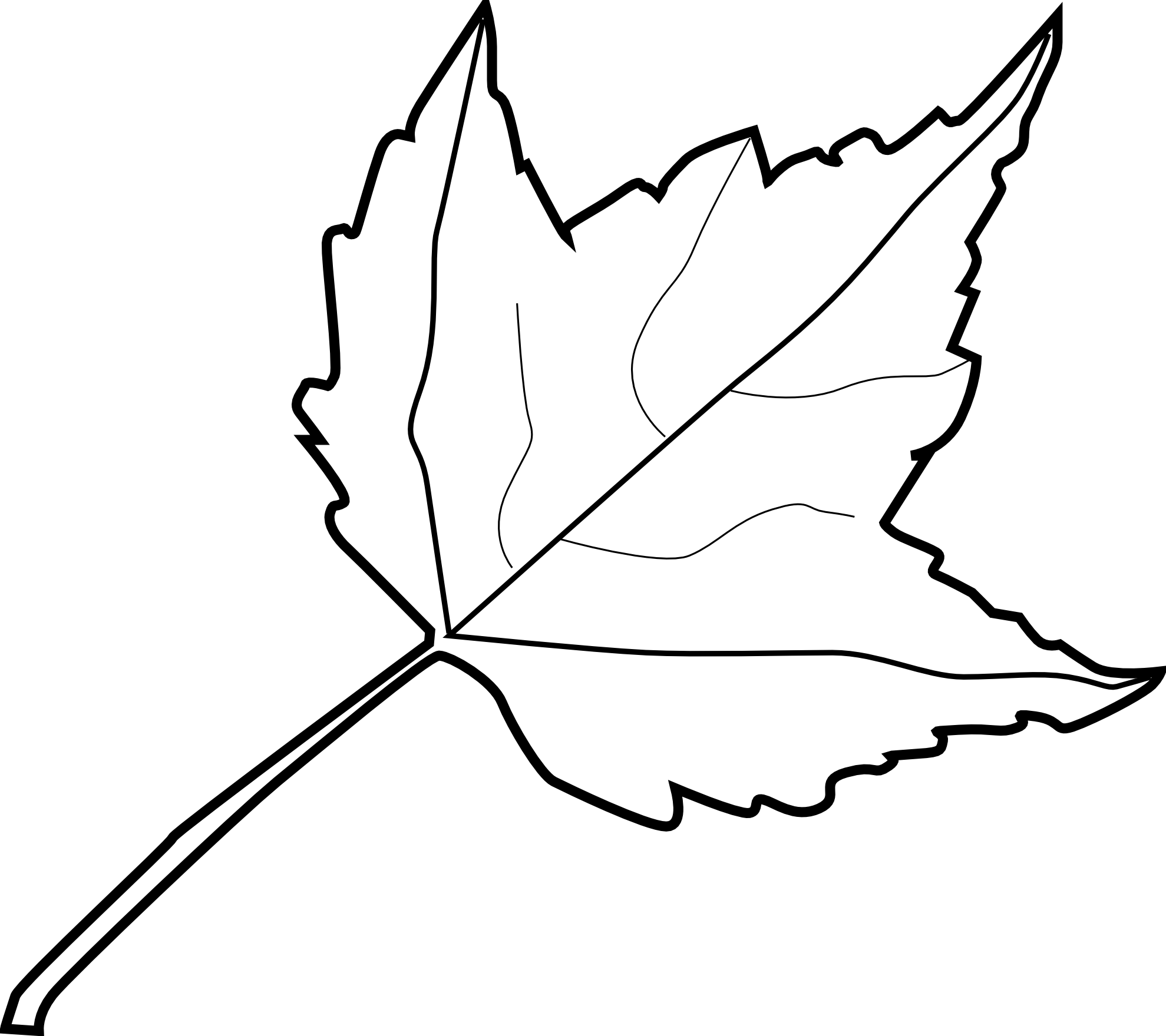 Zzve Line Art : Line drawing leaf clipart best
