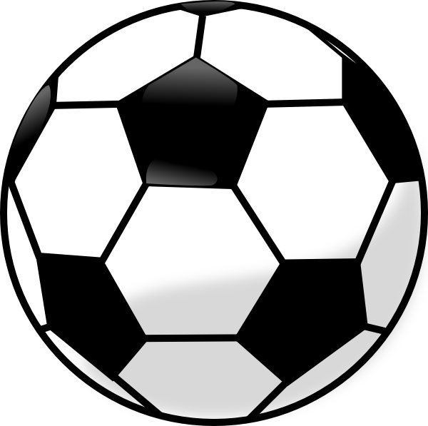 soccer ball printable clip template football clipart coloring cliparts pattern sport computer designs use