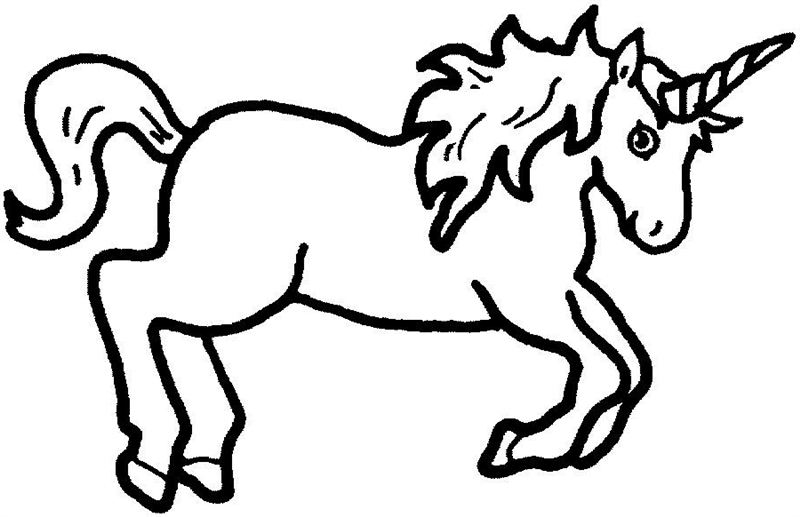 free cartoon unicorn clipart - photo #45
