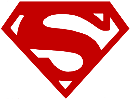 superman diamond outline clipart best